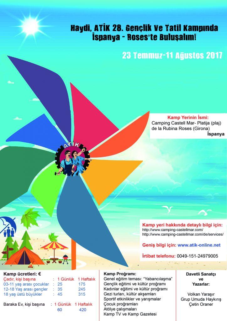 28. ATİK Gençlik ve Tatil Kampında Buluşalım!