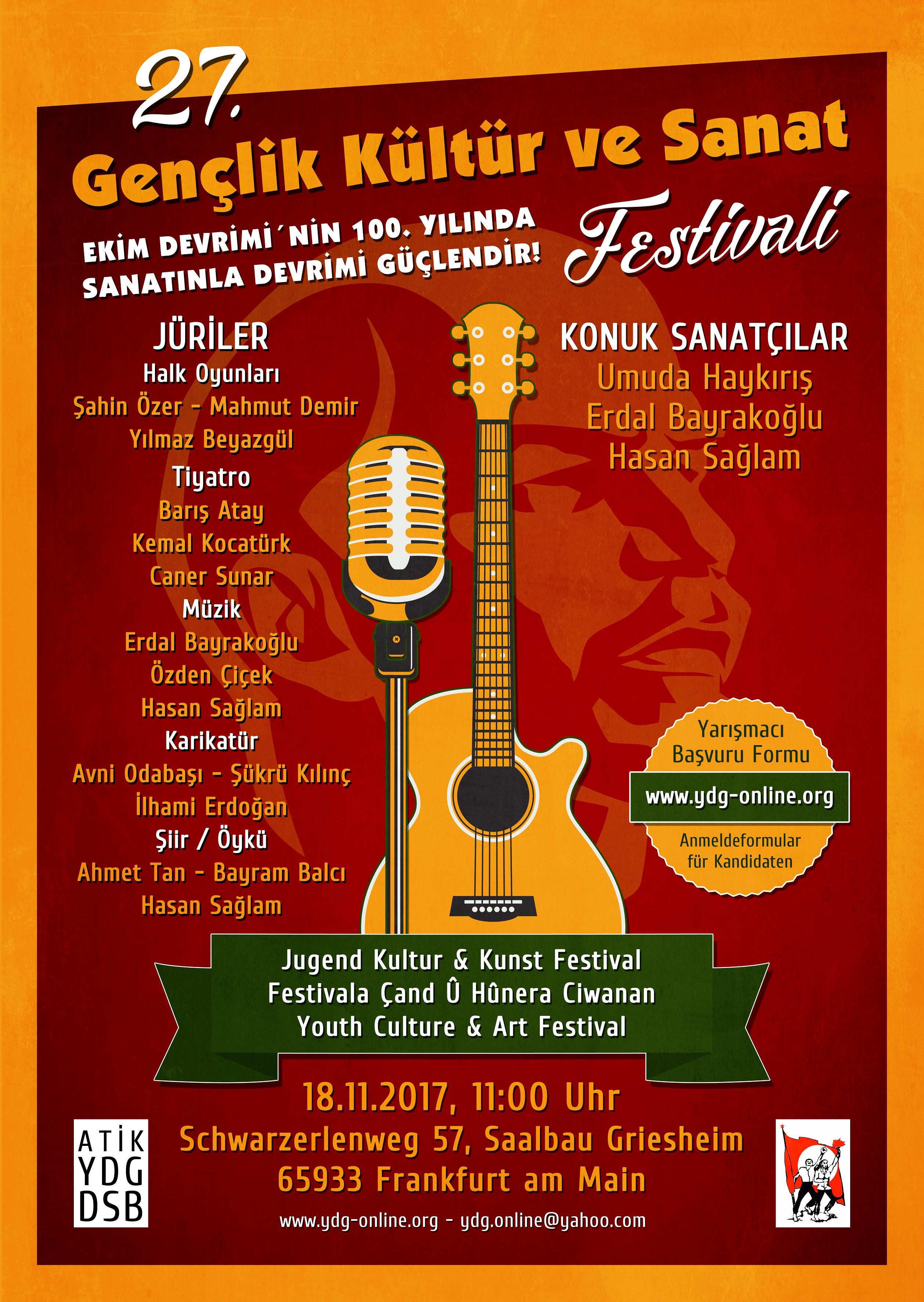27. Gençlik ve Kültür Sanat Festivali'nde Buluşalım!