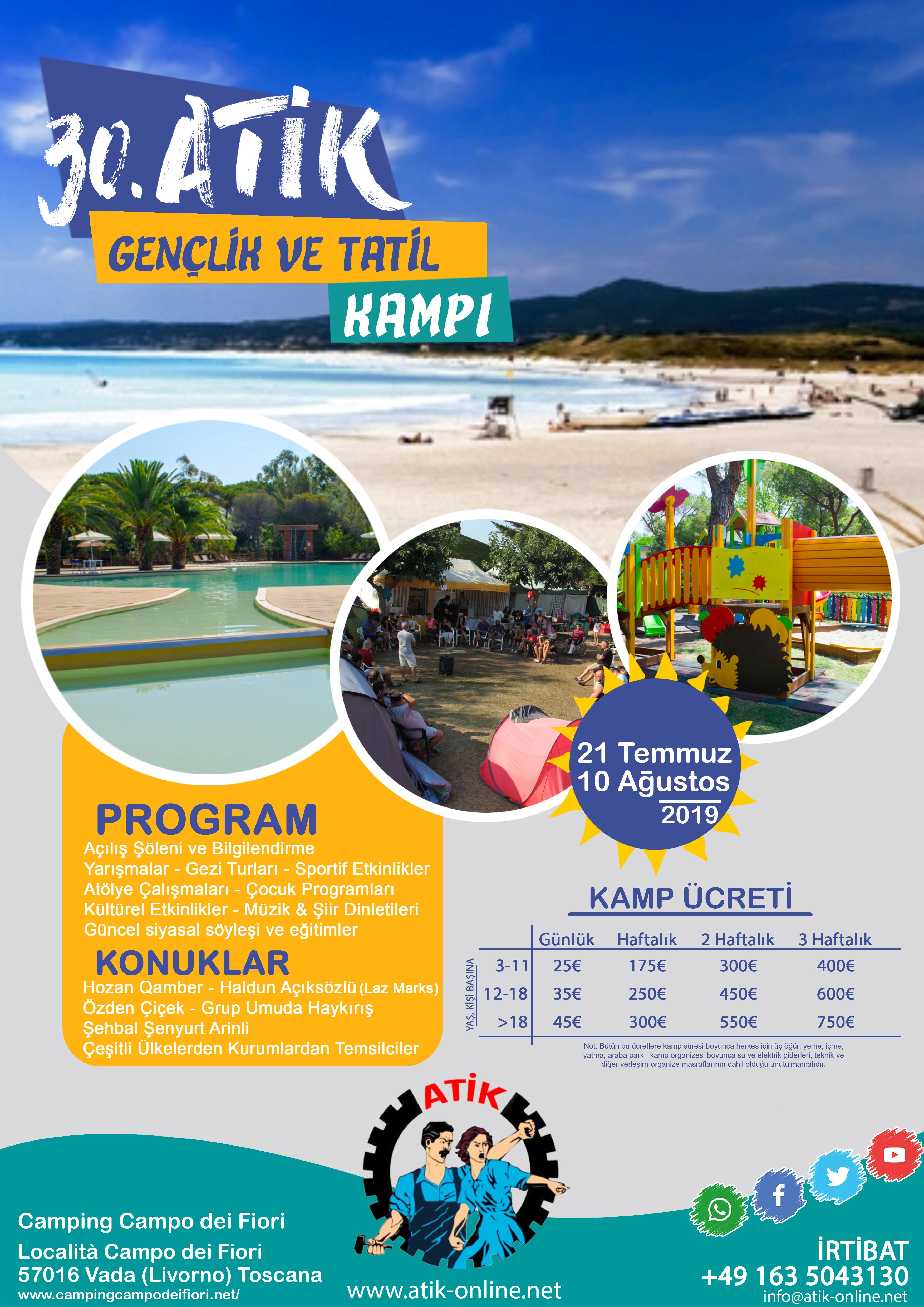 ATİK Gençlik ve Tatil Kampı 2019